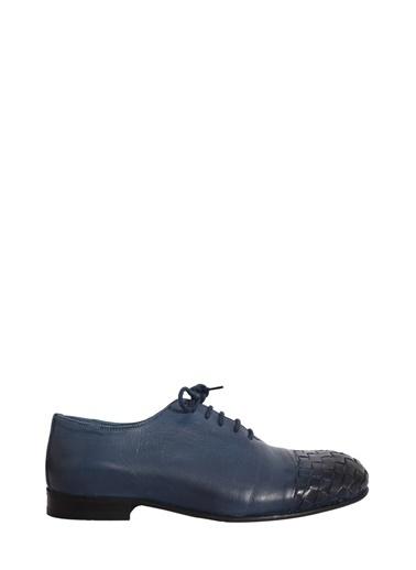 Faruk Sağın %100 Deri Casual Ayakkabı Lacivert